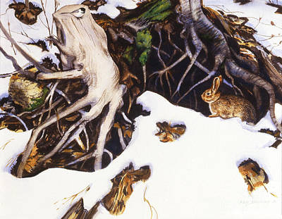 Phil Hopkins Painting - Winter Roots by Phil Hopkins