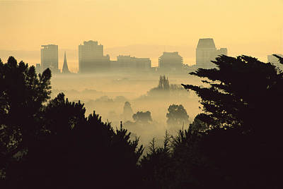 Winter Smog Over The City Print by Colin Monteath