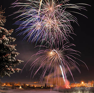 Winter Solstice Fireworks Print by Gary Whitton