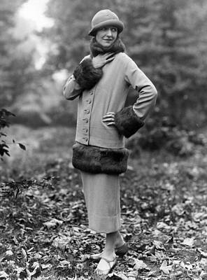 Cloche Hat Photograph - Winter Suit by Sasha
