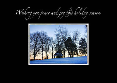Winter Sunset Christmas Card Print by Daphne Sampson