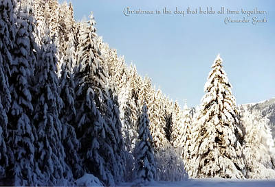 Winter Wonderland Austria Europe Print by Sabine Jacobs