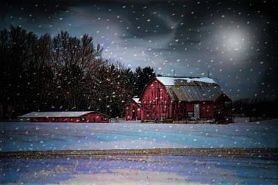 Winters Night Original by Mary Timman