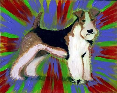 Wire Fox Terrier Print by Char Swift