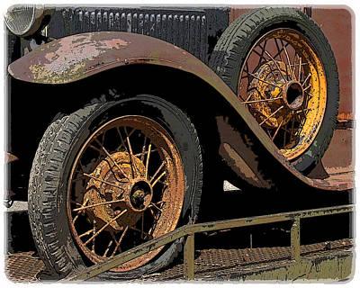 Wire Wheels Print by Steve McKinzie