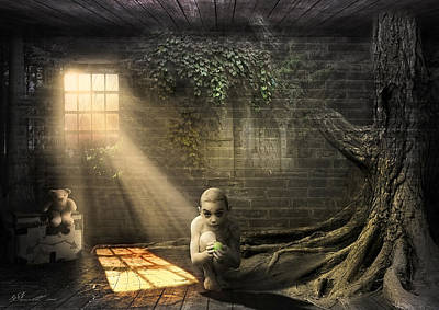 Spooky Digital Art - Wishing Play Room by Svetlana Sewell