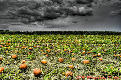 With Halloween Darkness Comes Print by Timothy Hedges