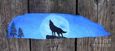 Wolf Howl1 Print by Monika Shepherdson
