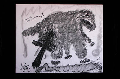 Santa Monica Drawing - Wolf In Sheeps Clothes by Michael Vincent Whitemiller