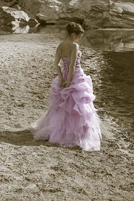 Woman At The Beach Print by Joana Kruse