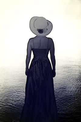 Woman At The Shore Print by Joana Kruse