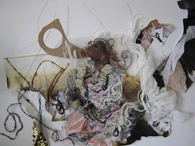 Mixed Media - Woman In A Dream. by Cima Azimi