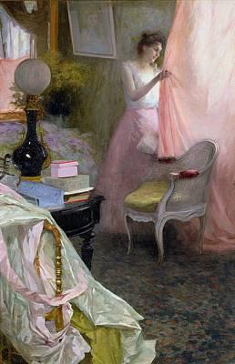Woman In An Interior   Print by Albert Breaute