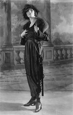 Woman Modeling Dress, A Frock Of Moon Print by Everett