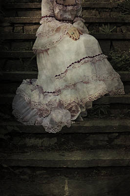 Overgrown Photograph - Woman On Steps by Joana Kruse