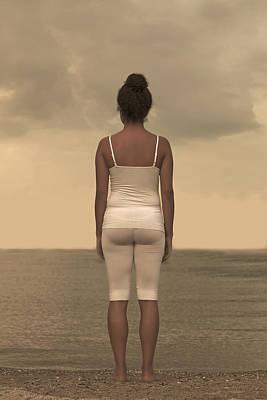Woman On The Beach Print by Joana Kruse