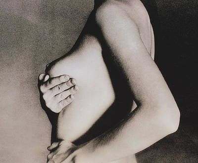 Self-examination Photograph - Woman Palpates Breast During Self-examination by Cristina Pedrazzini