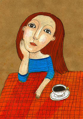 Individuality Digital Art - Woman Thinking by Jenny Meilihove