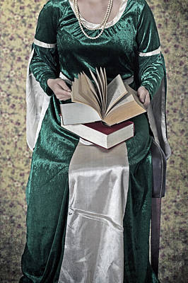 Necklace Photograph - Woman With A Book by Joana Kruse