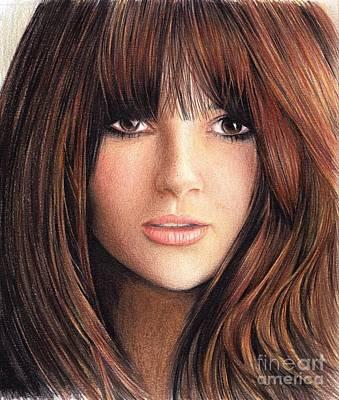 Woman With Brown Hair Print by Muna Abdurrahman