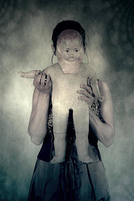 Woman With Doll Print by Joana Kruse