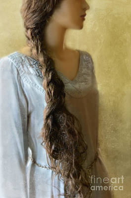 Woman With Long Braid Print by Jill Battaglia