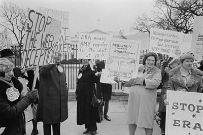Women Demonstrating Against The Federal Print by Everett