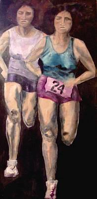 Women Runners  Original by Cj Carroll