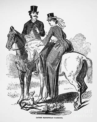 Equestrian Fashion Photograph - Womens Fashion, 1861 by Granger