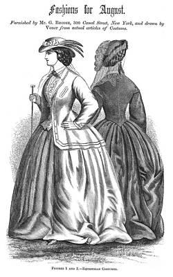 Equestrian Fashion Photograph - Womens Fashion, 1862 by Granger
