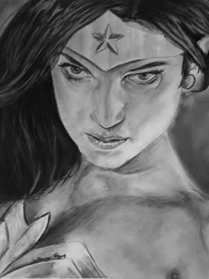 Dc Comics Drawing - Wonder Woman by Brittany Frye