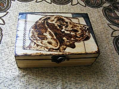 Wood Ammo Box-german Pointer Pyrography Original by Egri George-Christian