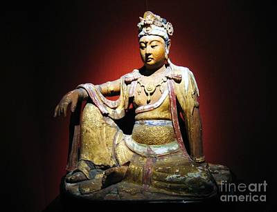 Buddhist Painting - Wood Bodhisattva by Pg Reproductions