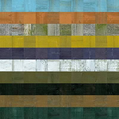 Wooden Abstract L Print by Michelle Calkins