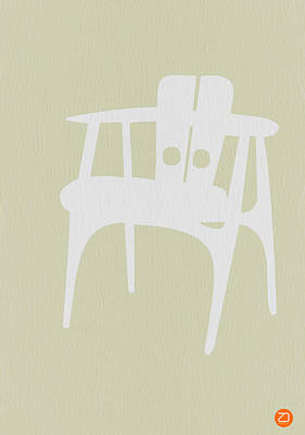 Chairs Digital Art - Wooden Chair by Naxart Studio