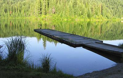 Wooden Platform Digital Art - Wooden Dock On Lake by Anne Mott
