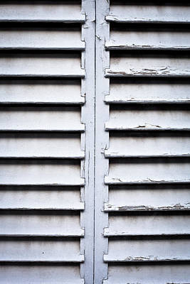 Wooden Shutters Print by Tom Gowanlock