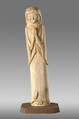 Wooden Statue Carving Print by Noah Katz