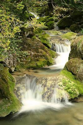 Hillman Photograph - Woodland Waterfall by Victoria Hillman