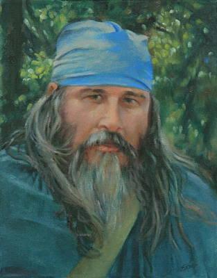 Character Studies Painting - Woodsman by Linda Eades Blackburn
