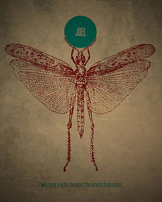 Old Testament Digital Art - Word Joel by Jim LePage