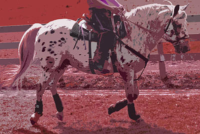 Horse Show Digital Art - Working At Dawn by Betsy Knapp