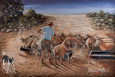Working Sheep In South-africa Original by Wilma Kleinhans