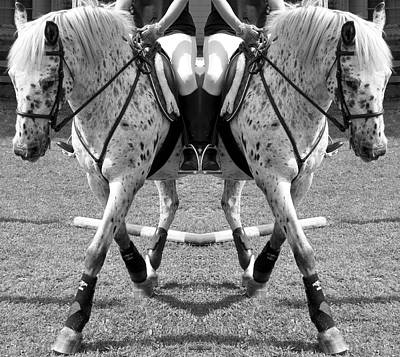 Horse Show Digital Art - Working Towards Excellence by Betsy Knapp