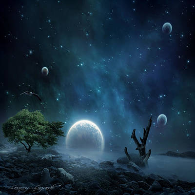 Andromeda Photograph - World Beyond by Lourry Legarde