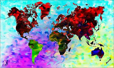 Hong Kong Mixed Media - World Map by The DigArtisT