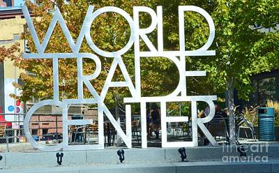 World Trade Center Print by Kathleen Struckle