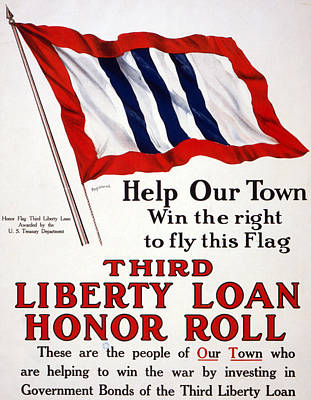 World War I, Poster - Help Our Town Win Print by Everett