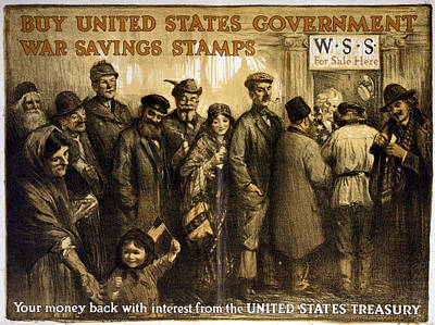 World War I, Poster Showing A Variety Print by Everett