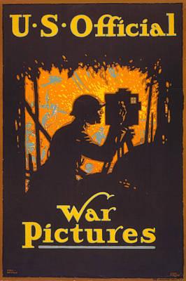 1910s Poster Art Photograph - World War I, Poster Showing A War by Everett
